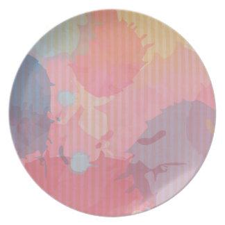 Arte colorido de Abastract de la cartulina de la Plato