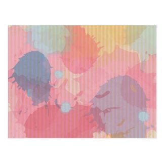 Arte colorido de Abastract de la cartulina de la Tarjetas Postales