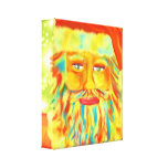 Arte colorido de Claus Santa Impresión En Lona Estirada