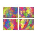 Arte colorido de Digitaces de la rueda del pixel Impresión De Lienzo