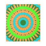 Arte colorido de Digitaces del girasol Blocs De Notas