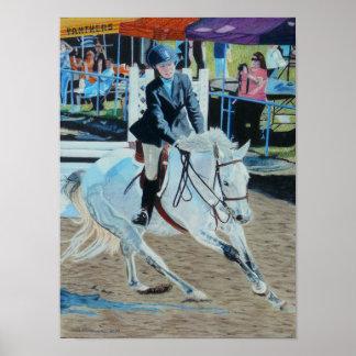 Arte colorido de Horseshow Póster