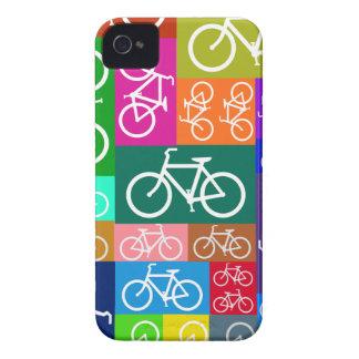 Arte colorido de la bicicleta del remiendo funda para iPhone 4