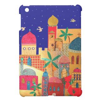 Arte colorido de la ciudad de Jerusalén iPad Mini Carcasas