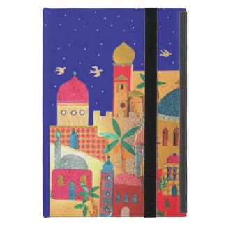 Arte colorido de la ciudad de Jerusalén iPad Mini Fundas