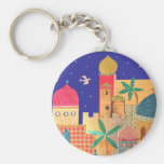 Arte colorido de la ciudad de Jerusalén Llaveros Personalizados