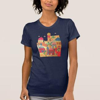 Arte colorido de la ciudad de Jerusalén Camisetas