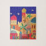 Arte colorido de la ciudad de Jerusalén Rompecabeza Con Fotos