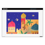 Arte colorido de la ciudad de Jerusalén Skins Para 38,1cm Portátiles
