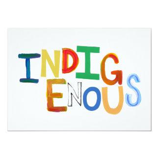 """Arte colorido de la diversión tribal indígena de invitación 5"""" x 7"""""""