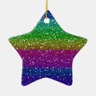 Arte colorido de la familia del amigo del arco adorno de cerámica en forma de estrella