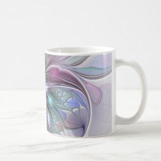 Arte colorido de la fantasía, abstracto y moderno taza de café