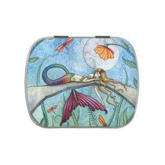 Arte colorido de la fantasía de la sirena jarrones de dulces
