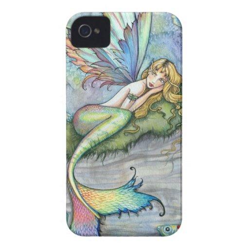 Arte colorido de la fantasía de los pescados de la iPhone 4 Case-Mate carcasa