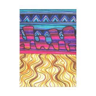 Arte colorido de la pared del desierto impresion en lona