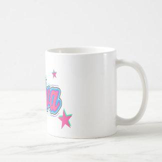 Arte colorido de la pintada de la diva tazas de café
