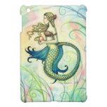 Arte colorido de la sirena de la perla rosada por  iPad mini funda
