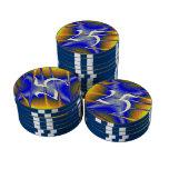 Arte colorido de la textura fichas de póquer