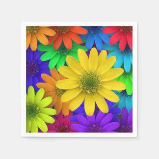 Arte colorido de las flores servilleta de papel