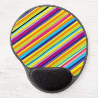 Arte colorido de las rayas alfombrilla de raton con gel