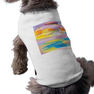Arte colorido de los amantes del mar del océano de ropa de perros