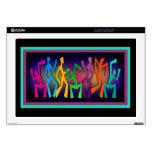 Arte colorido de los bailarines skins para 43,2cm portátil