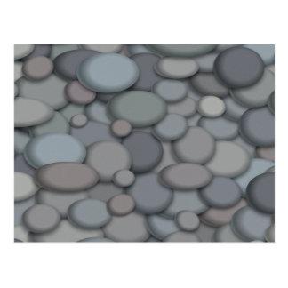 Arte colorido de los guijarros de la roca del río tarjetas postales