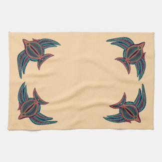 Arte colorido de los mares del sur toallas de cocina