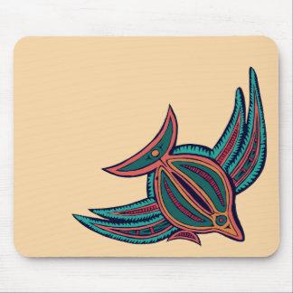 Arte colorido de los mares del sur alfombrillas de ratón