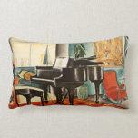 Arte colorido del anuncio del instrumento del pian almohada