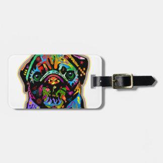 Arte colorido del barro amasado del mascota del ar etiquetas de equipaje