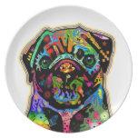 Arte colorido del barro amasado del mascota del ar platos de comidas