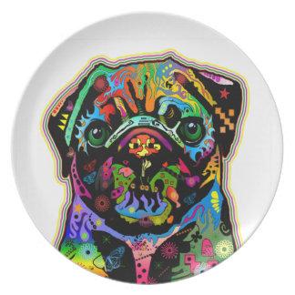 Arte colorido del barro amasado del mascota del ar plato de comida