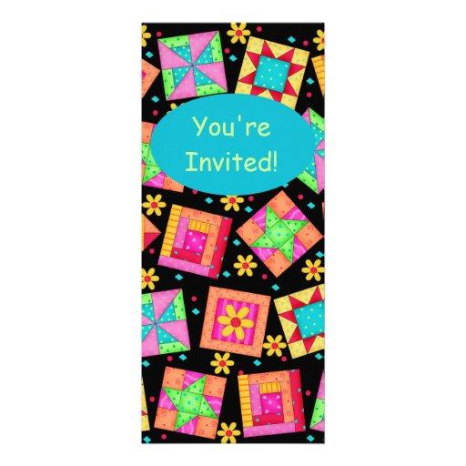 Arte colorido del bloque del edredón de remiendo comunicado personalizado