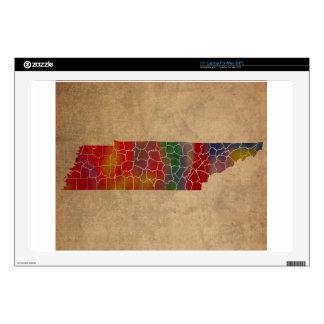 Arte colorido del condado de Tennessee Calcomanía Para Portátil