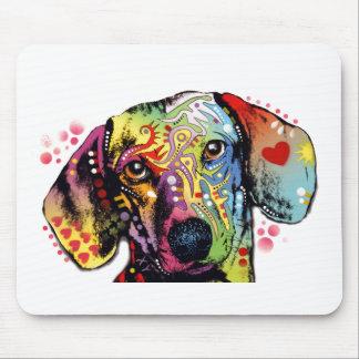 arte colorido del Dachshund Tapete De Ratón