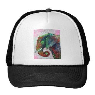 Arte colorido del elefante gorra