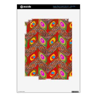 Arte colorido del estilo de la hoja en la pegatina skin para iPad 3