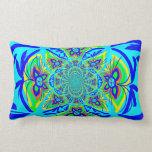 Arte colorido del fractal del extracto de la flor  cojin