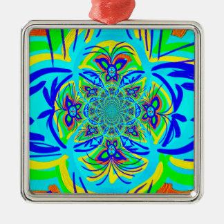 Arte colorido del fractal del extracto de la flor  ornamentos de navidad