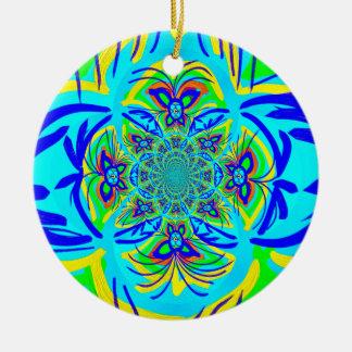 Arte colorido del fractal del extracto de la flor  ornamentos para reyes magos