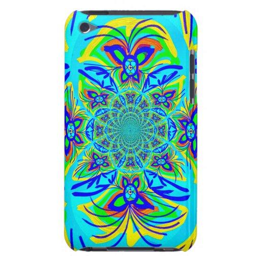 Arte colorido del fractal del extracto de la flor  iPod touch Case-Mate funda