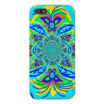 Arte colorido del fractal del extracto de la flor  iPhone 5 protector