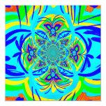Arte colorido del fractal del extracto de la flor comunicado personalizado