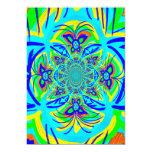 Arte colorido del fractal del extracto de la flor invitación