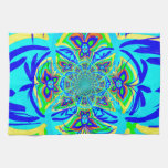 Arte colorido del fractal del extracto de la flor  toallas