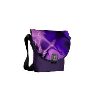 Arte colorido del fractal en azules, púrpuras y ro bolsa de mensajeria