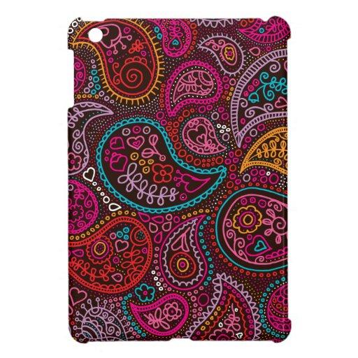 Arte colorido del modelo de Paisley la India iPad Mini Protector