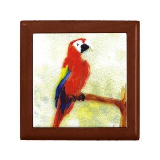 Arte colorido del pájaro del Macaw Caja De Regalo
