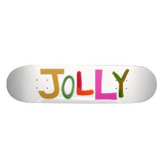 Arte colorido divertido feliz alegre de la palabra tablas de skate